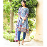 Cotrina Printed Cotton 3 Piece Un-Stitched Suit - 03