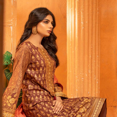 Rangreza Printed Lawn 3 Piece Un-Stitched Suit Vol 2 - 03