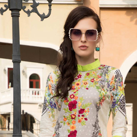 Salina Digital Embroidered Lawn 3 Piece Un-Stitched Suit Vol 1 - 04