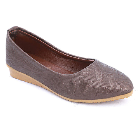 Girls Fancy Pumps  (309) - Brown