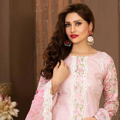 Poshak Embroidered Lawn 3 Piece Un-Stitched Suit - 33 A - test-store-for-chase-value
