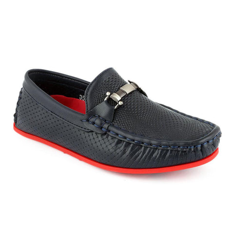 Eminent Loafer For Boys (3568) - Navy Blue - test-store-for-chase-value