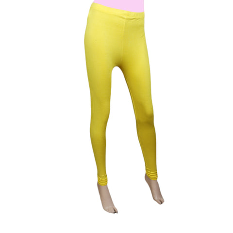 "Women's Plain Tights 39"" - Yellow"