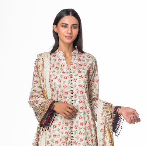 Salina Pop Digital  Printed Lawn 3 Piece Un-Stitched Suit Vol 1 - 03