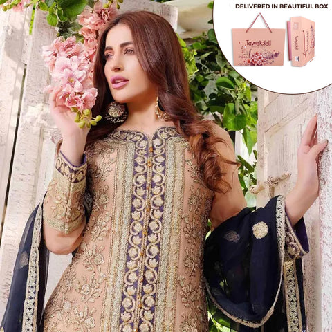 Exclusively Yours Heavy Embroidered Chiffon 3 Piece Un-Stitched Suit - 4631