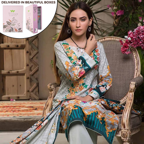 Noor Fatima Embroidered Lawn 3 Piece Un-Stitched Suit - A5