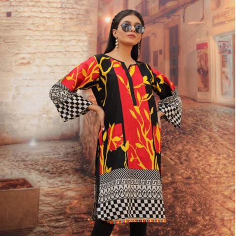 Chase Value Centre Printed Khaddar Un-Stitched Kurti Vol 3 - 03