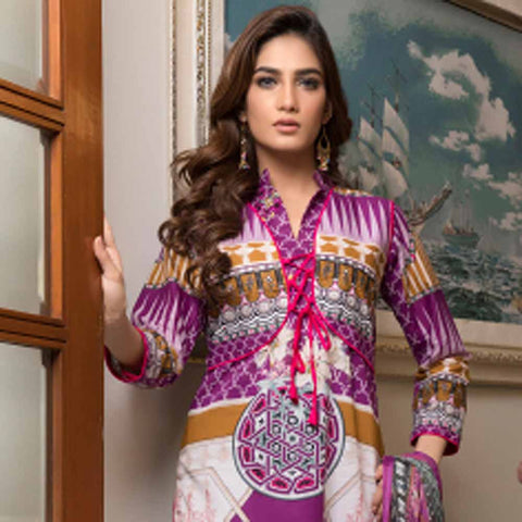 Zmaria Embroidered Lawn Un-Stitched Suit - 3A