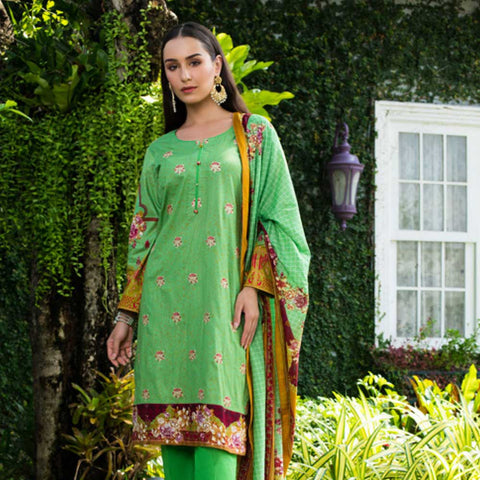 Sahil Embroidered Cotton 3 Pieces Un-Stitched Suit Vol 1 - 3 B