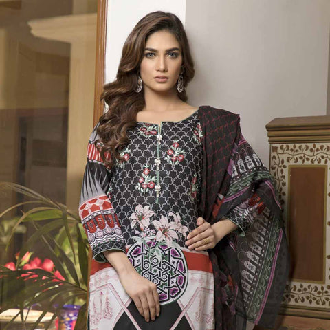 Zmaria Embroidered Lawn Un-Stitched Suit - 3B