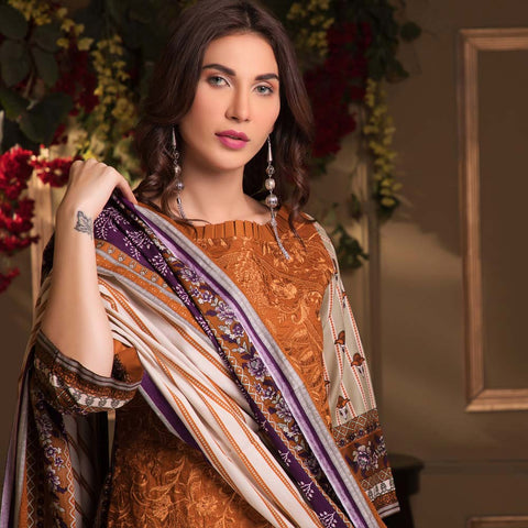 Sahil Luxury Embroidered Festive Lawn 3 Piece  Un-Stitched Suit - B3