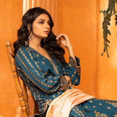 Rangreza Printed Lawn 3 Piece Un-Stitched Suit Vol 2 - 04