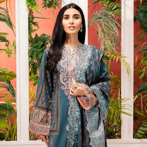 Iman Embroidered Lawn 3 Piece Un-Stitched Suit Vol 2 - 4