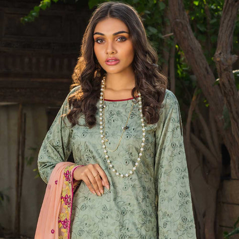 Kalyan Embroidered Lawn 3 Piece Un-Stitched Suit Vol 1 - 10