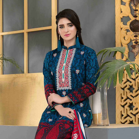 Sienna Embroidered Viscose 3 Pieces Un-Stitched Suit - 4312 A