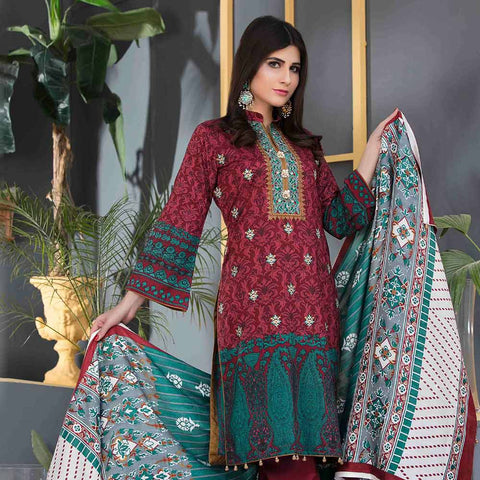 Sienna Embroidered Viscose 3 Pieces Un-Stitched Suit - 4312 B