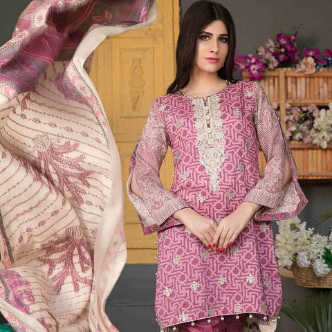 Sienna Embroidered Viscose 3 Pieces Un-Stitched Suit - 4314 A