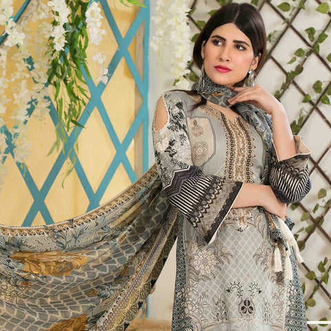 Amna Sohail Bold Summer Embroidered Lawn Suit - 4616 A - test-store-for-chase-value