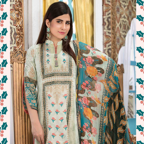 Amna Sohail Bold Summer Embroidered Lawn Suit - 4618 B - test-store-for-chase-value