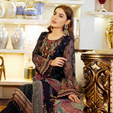 Luxury Pearl Embroidered Chiffon 3 Piece Semi-Stitched Suit - 4701