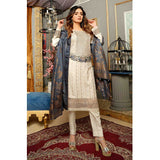 Majestic Marvel Embroidered Viscose 3 Pieces Suit Semi Stitched - 4722