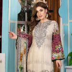 Melange Digital Embroidered Viscose 3 Piece Un-Stitched Suit - 4738