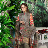 Melange Digital Embroidered Viscose 3 Piece Un-Stitched Suit - 4739