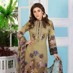 Melange Digital Embroidered Viscose 3 Piece Un-Stitched Suit - 4741