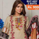 Rangreza Printed Lawn 3 Piece Un-Stitched Suit Vol-07 ZS - 09
