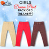 Girls Denim Pant Pack Of 3