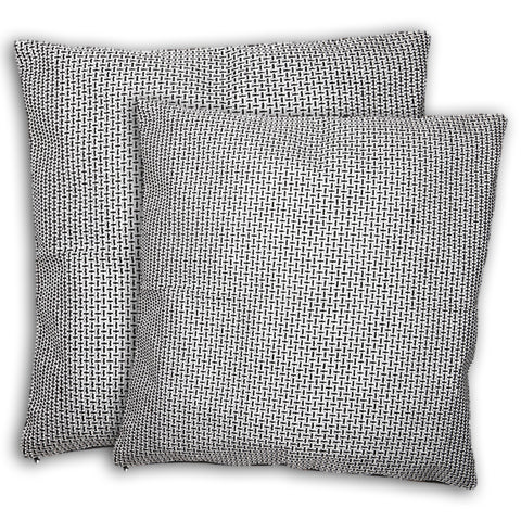 Cushion Covers 2 Pcs Set - White