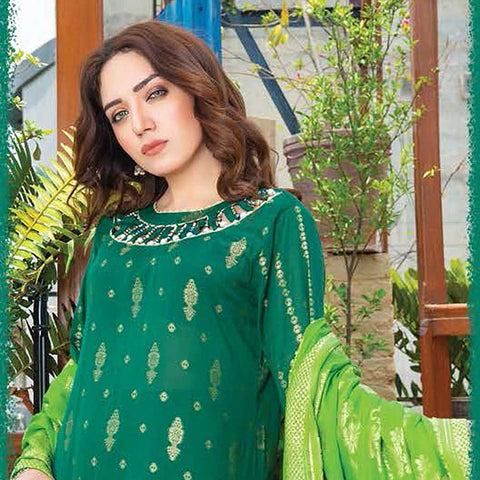 Mahoor Embroidered Broshia Lawn 3 Piece Un-Stitched Suit - 04