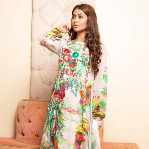 Veena Durrani Embroidered Lawn Suit - 04 - test-store-for-chase-value