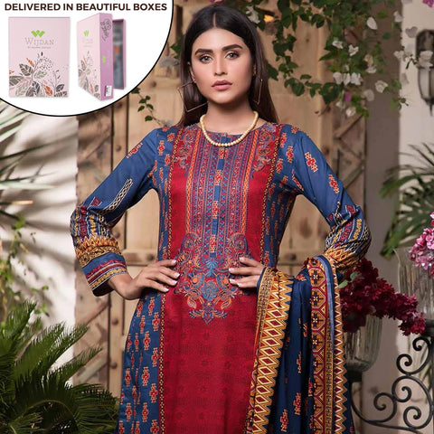 Noor Fatima Embroidered Lawn 3 Piece Un-Stitched Suit - B1