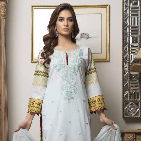 Zmaria Embroidered Lawn Un-Stitched Suit - 4A