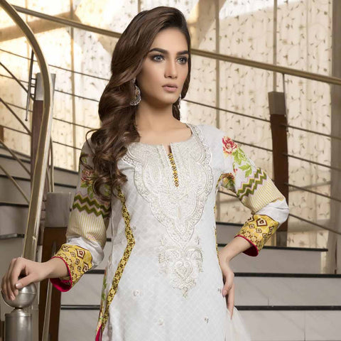 Zmaria Embroidered Lawn Un-Stitched Suit - 4B
