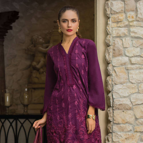 Maira Ahsan Embroidered Chiffon 3 Piece Un-Stitched Suit - 05