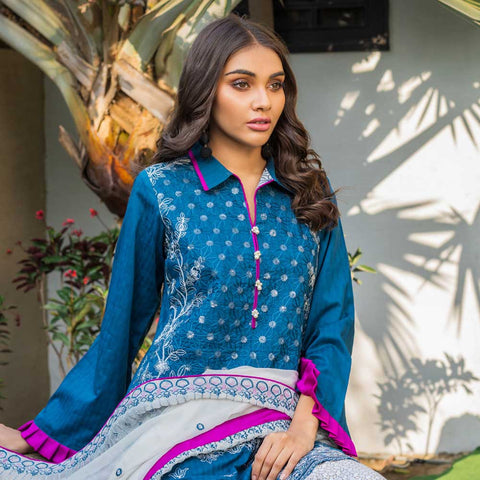 Kalyan Embroidered Lawn 3 Piece Un-Stitched Suit Vol 1 - 04