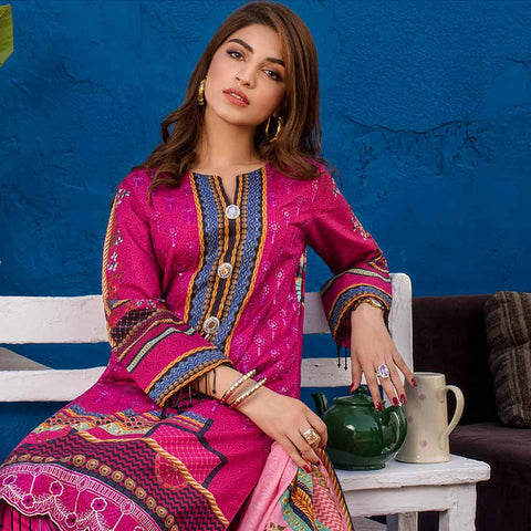 Regalia Digital Printed Embroidered Lawn 3 Piece Un-Stitched Suit Vol 2 - 5