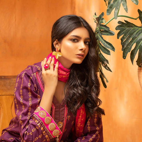 Rangreza Printed Lawn 3 Piece Un-Stitched Suit Vol 2 - 08