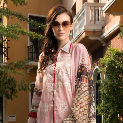 Salina Digital Embroidered Lawn 3 Piece Un-Stitched Suit Vol 1 - 05