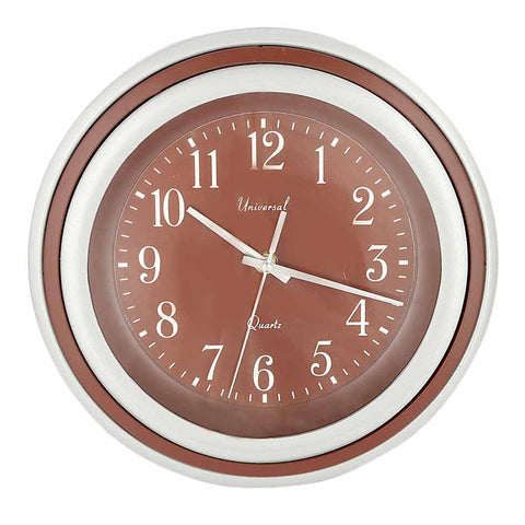 Analog Wall Clock 5000 - Brown