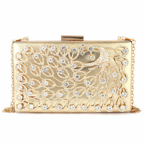 Women's Bridal Clutch (5143) - Gold