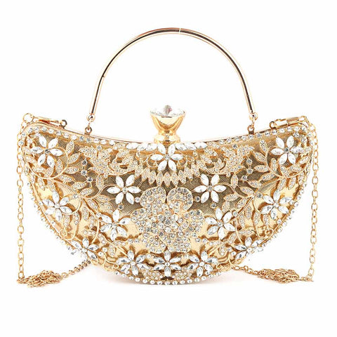 Women's Bridal Clutch (5082) - Gold