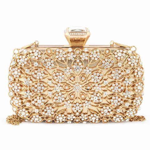 Women's Bridal Clutch (5117) - Gold