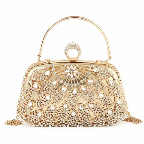 Women's Bridal Clutch (5126) - Gold