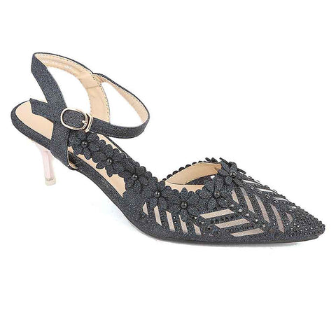 Women's Fancy Heel (528-394) - Navy Blue