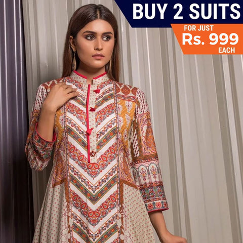 Rangreza Printed Mid Summer Cotton Suit Vol-01 - 12