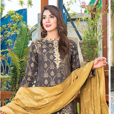 Mahoor Embroidered Broshia Lawn 3 Piece Un-Stitched Suit - 05