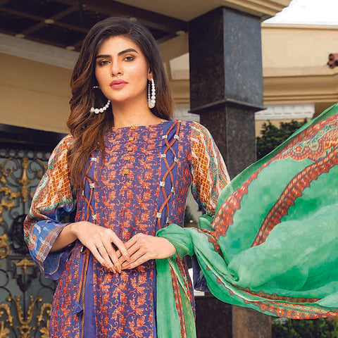 Masumery Embroidered Lawn 3 Piece Un-Stitched Suit Vol 17 - 05